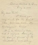 Johnston's letter to Ruth Clement, May 6, 1908 page 1