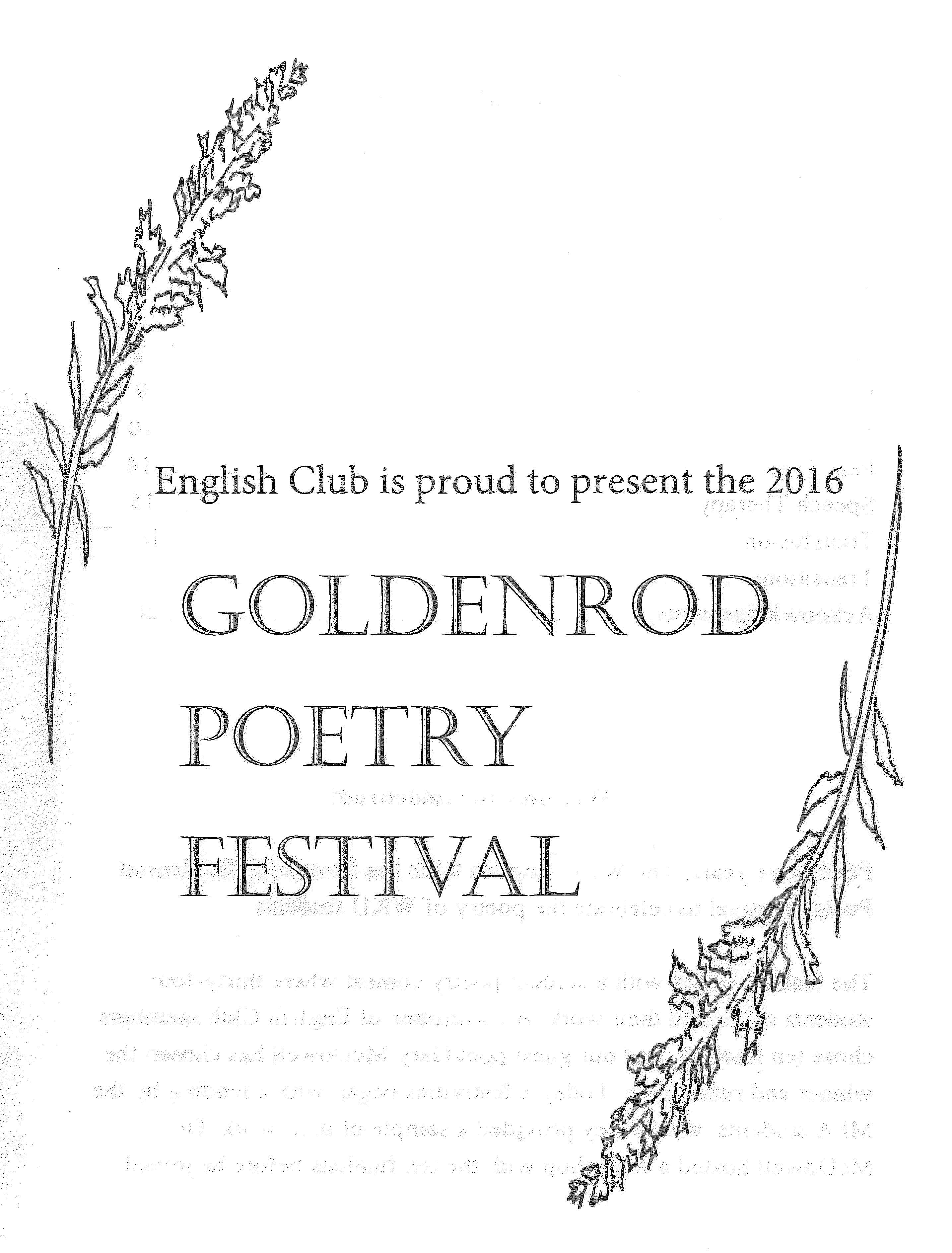 Goldenrod Poetry Festival