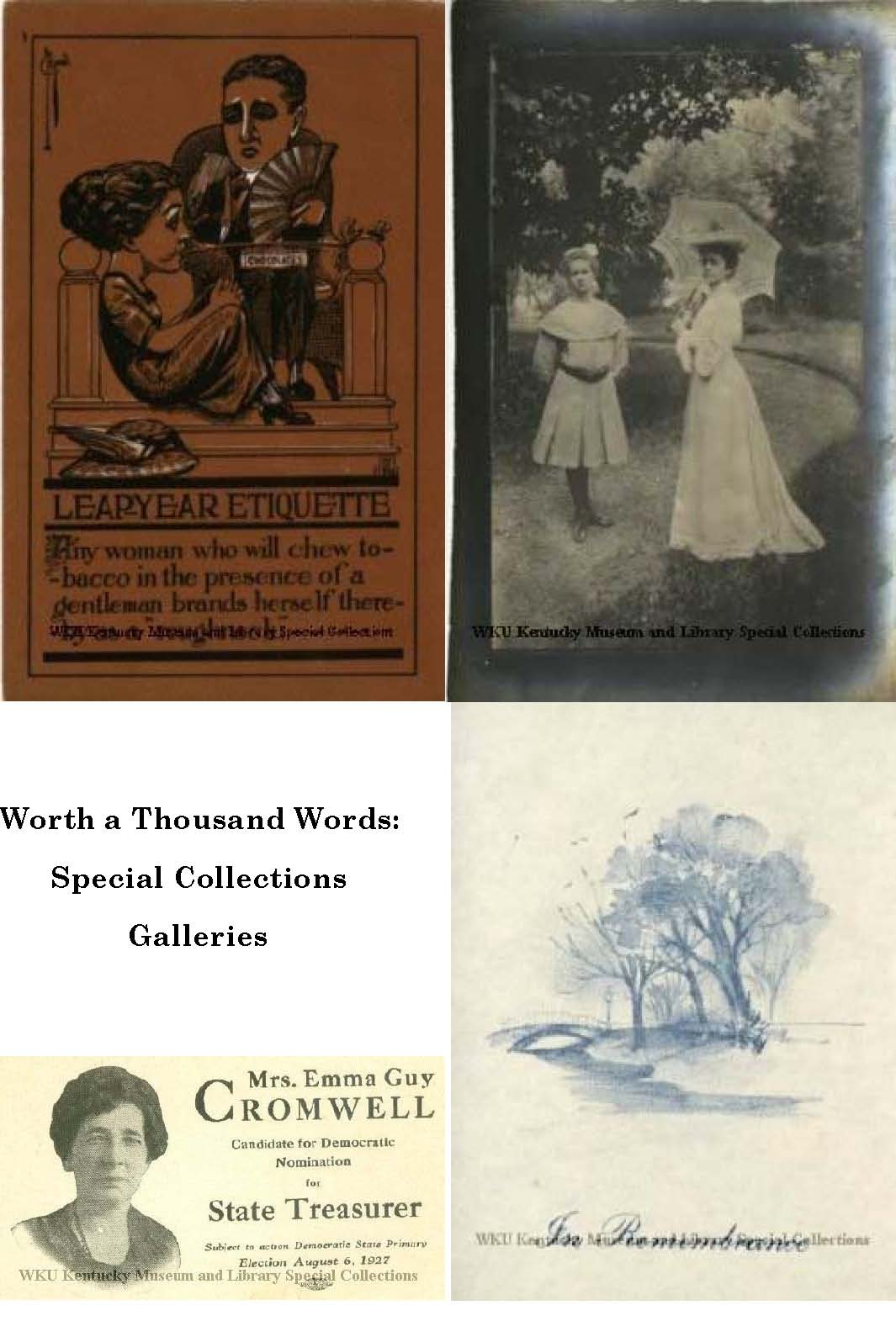 Worth a Thousand Words:  Special Collections Galleries