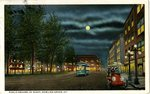 A Public Square Post Card at night by B H. Dalton