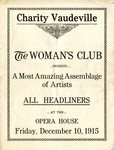 Bowling Green Woman's Club Charity Vaudeville 1915 program by WKU Library Special Collections