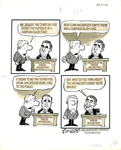 Uncaptioned cartoon about the Nixon campaign slush fund