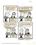 Uncaptioned cartoon about Nixon campaign slush fund by Bill Sanders
