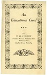 An Educational Creed by Henry Cherry