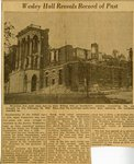 Wesley Hall Reveals Record of Past by Unknown