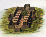 Mohican Village - New Netherlands & New England by Willem Blaeu