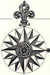 Compass Rose - British Empire in North America by Henry Popple