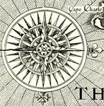 Compass Rose - Map of Virginia