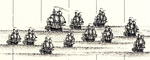 British Fleet - British Empire in North America by Henry Popple