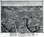 Bird's Eye View of the City of Paris, Kentucky