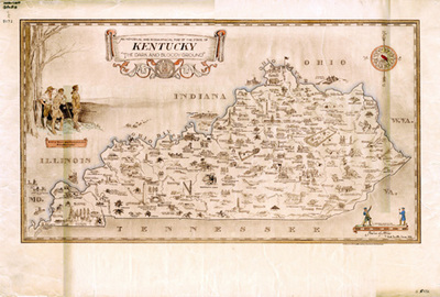 An Historical And Geographical Map Of The State Of