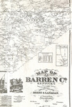 Map of Barren County, Kentucky by Beers & Lanagan
