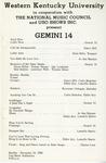 Gemini 14 USO Concert Program