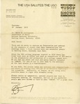 Gemini 75 Letter re: USO Tour