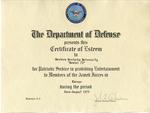 Gemini 75 Certificate of Esteem