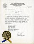 Gemini 77 Letter of Commendation
