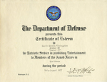 Gemini 77 Certificate of Esteem