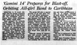Gemini 14 Prepares for Blast-off, Orbiting All-girl Band to Caribbean