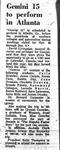 Gemini 15 to Perform in Atlanta