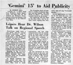 Gemini 15 to Aid Publicity