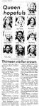 Queen Hopefuls: Thirteen Vie for Crown