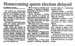 Homecoming Queen Election Delayed