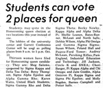 Students Can Vote 2 Places for Queen