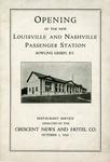 Louisville & Nashville Station Dedication Program by Louisville & Nashville Railroad