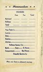 L&N Railroad Ticket Envelope, Reverse