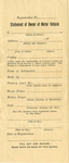 Kentucky Registration of Motor Vehicles Form by Kentucky Commissioner of Motor Vehicles
