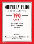 Southern Pride Grain Alcohol (Meadow Springs Distillery Co.) by Department of Library Special Collections