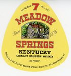 Meadow Springs (Meadow Springs Distillery Co.) by Department of Library Special Collections