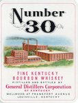 Number 30 Fine Kentucky Bourbon Whiskey (General Distillers Corporation of Kentucky) by Department of Library Special Collections