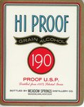 Hi Proof Grain Alcohol (Meadow Springs Distillery Co.) by Department of Library Special Collections