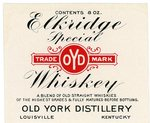 Elkridge Special Whiskey (Old York Distillery) by Department of Library Special Collections