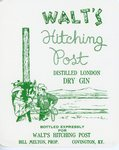 Walt's Hitching Post Distilled London Dry Gin (Bottled for Walt's Hitching Post) by Department of Library Special Collections