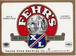 Fehr's XL (Frank Fehr Brewing Co.) by Department of Library Special Collections