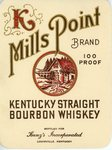 Mills Point Brand (Bottled for Kunz's Inc.) by Department of Library Special Collections