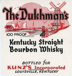 The Dutchman's (Bottled For Kunz's Inc.) by Department of Library Special Collections