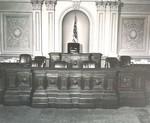 Senate Clerk's and Presiding Officer's Desks in situ by Olivia Renee Bowers
