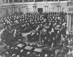 Winston Churchill, Prime Minister of Great Britain, addresses a joint session of Congress in the Senate Chamber on December 26, 1941 by Olivia Bowers
