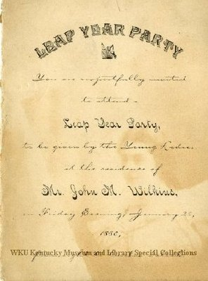 Leap Year Party invitation, Bowling Green, Ky.
