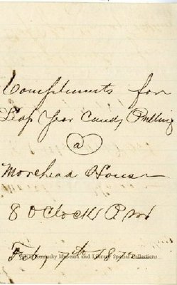 Leap Year Candy Pulling invitation, 1872