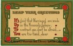Leap Year Greetings : It's Up To You