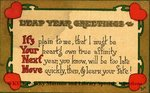 Leap Year Greetings : It's Your Next Move