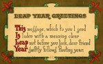 Leap Year Greetings : This Is Leap Year