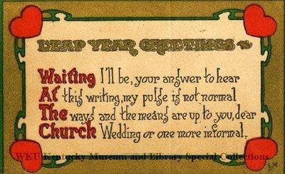 Leap Year Greetings : Waiting At The Church