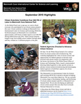 MCICSL Newsletter - September 2015 by Shannon R. Trimboli Education Coordinator