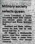 Military Society Selects Queen