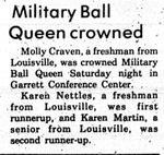 Military Ball Queen Crowned by College Heights Herald